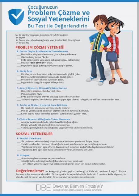 Çocuğunuzun Problem Çözme ve Sosyal Yeteneklerini Ölçün /Değerlendirin