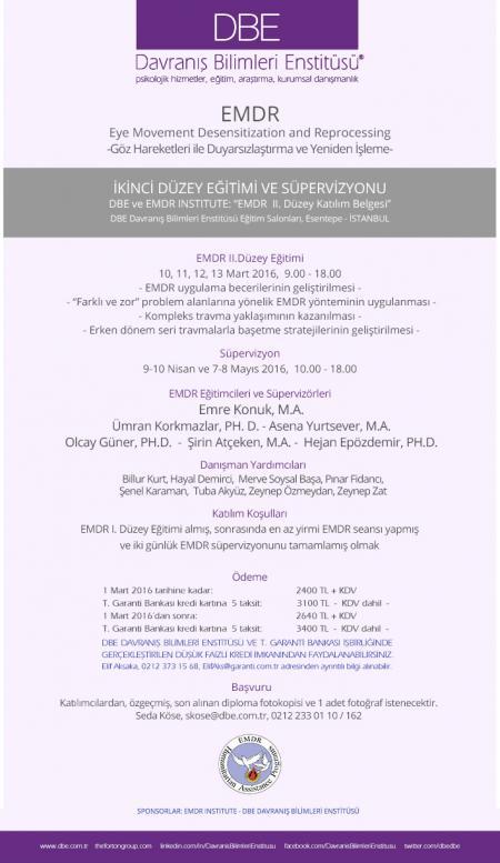 EMDR II. Düzey Eğitimi ve Süpervizyonu - İstanbul